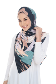 ( Splash Emerald ) Pinless Semi Instant Shawl ( Choose awning )