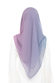 Ombre Claudia 2-in 1-Instant Midnight  (Pink Inner ) - Chiffon