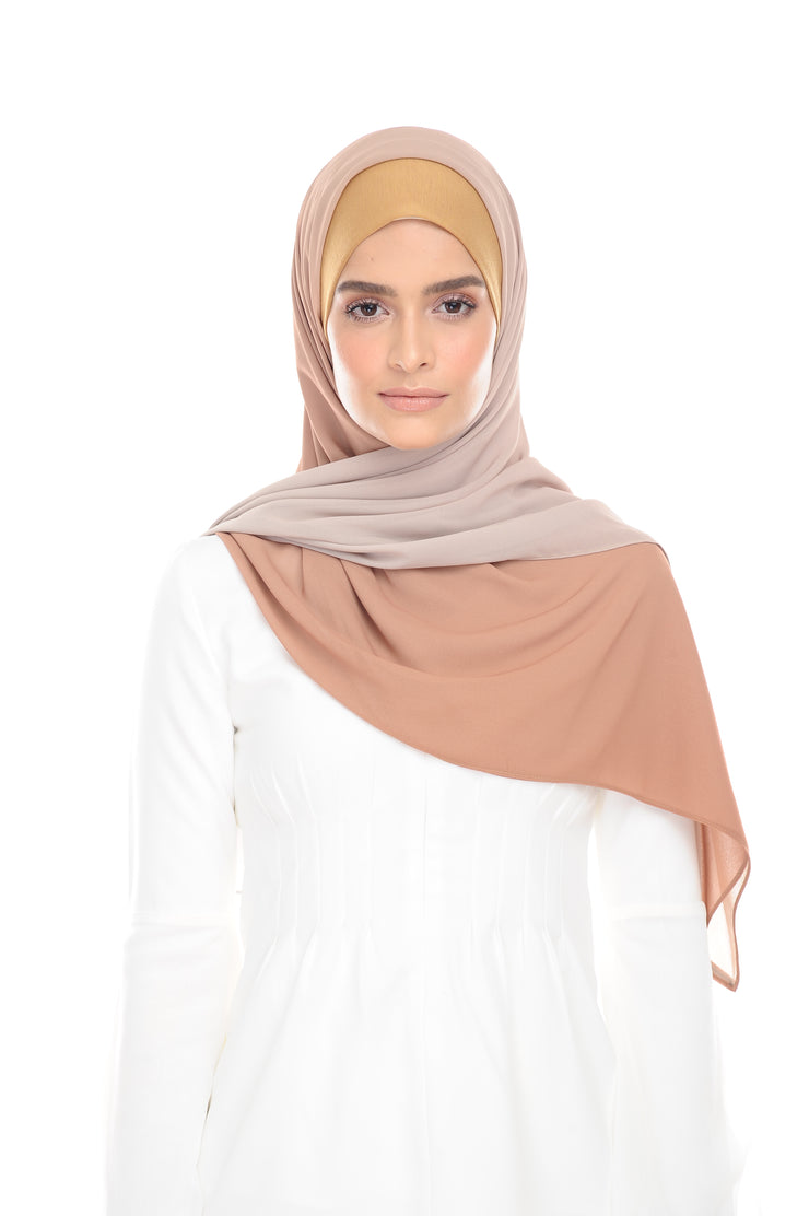 Ombre Claudia 2-in 1-Instant  (RustyBrown) - Chiffon