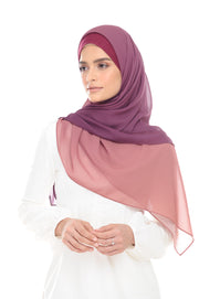 Ombre Claudia 2-in 1-Instant  (Mixed Purple) - Chiffon