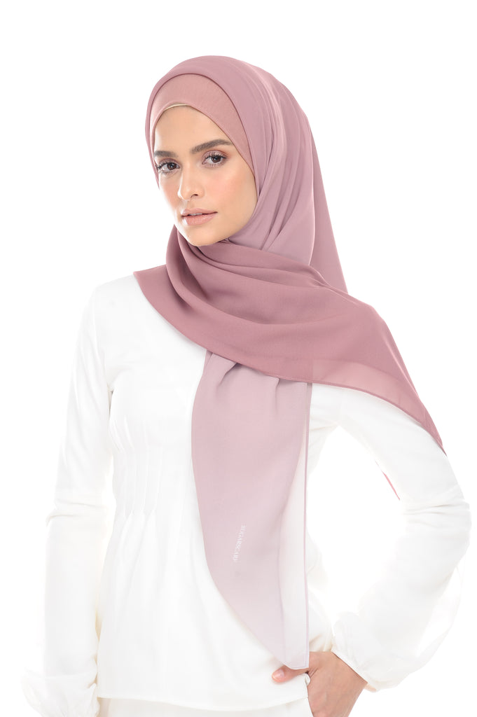 Ombre Claudia 2-in 1-Instant  (Pink Masam Manis) - Chiffon