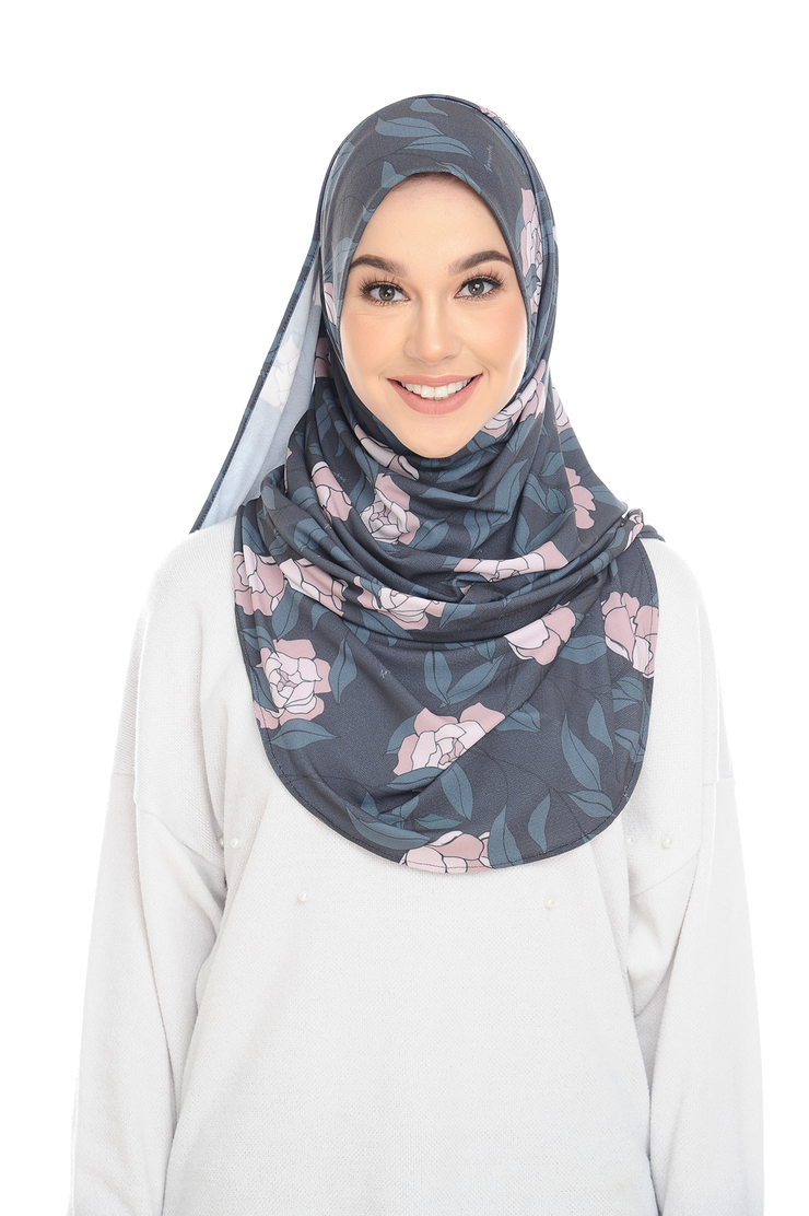 ( Belle) Pinless Semi Instant Shawl - Choose Awning