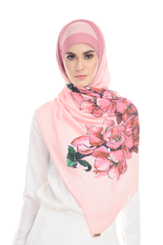 Blooming in Pink Heavy Chiffon - Sugarscarf