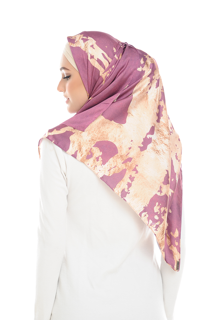 Fling Gold Pink Square Satin Luxe - Sugarscarf