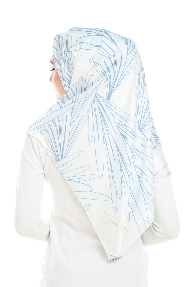 Leave Me Not in Natural Square Satin Luxe - Sugarscarf