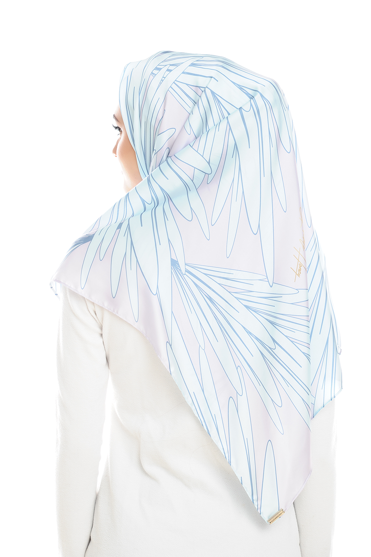 Leave Me Not in Lilac Square Satin Luxe - Sugarscarf