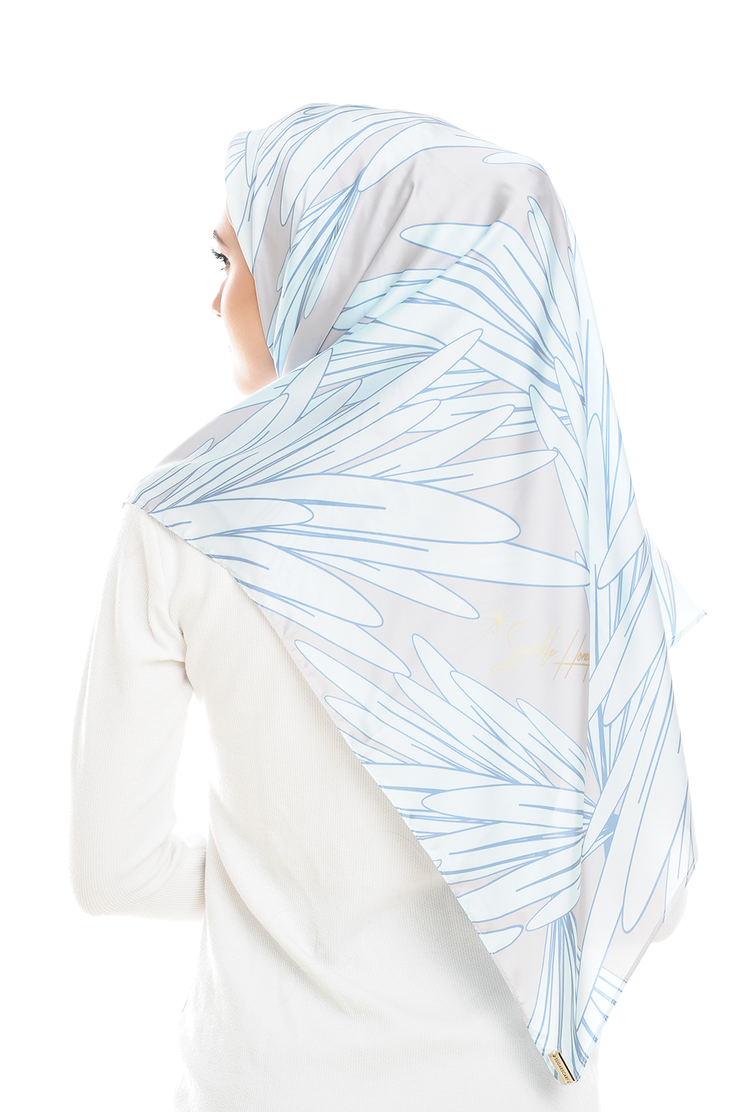 Leave Me Not in Darker Square Satin Luxe - Sugarscarf
