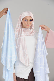 HeartMosaic BabyBlue Square Satin Luxe