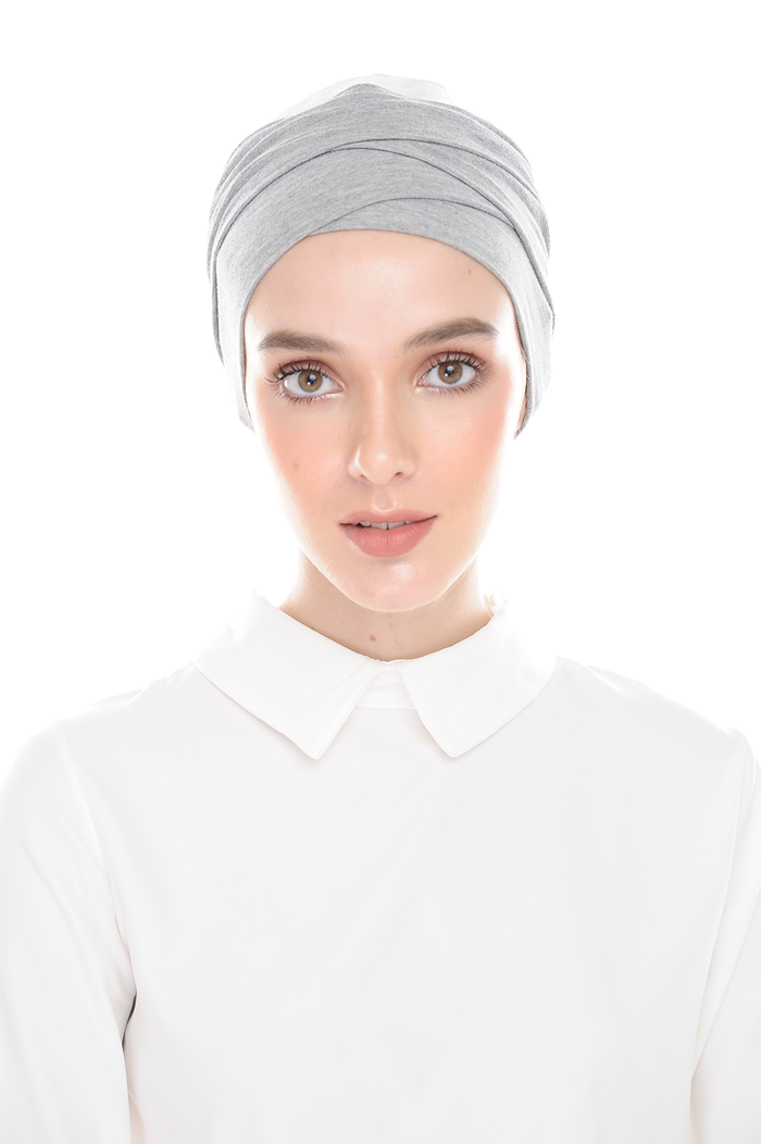 Inner Hana Snow Cap ( No tie back ) - Layered Style ( Sport Gray )
