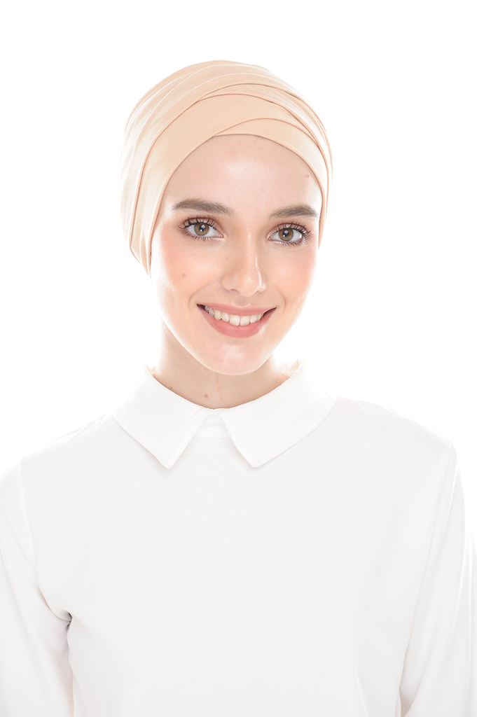 Inner Hana Snow Cap ( No tie back ) - Layered Style ( Cream )