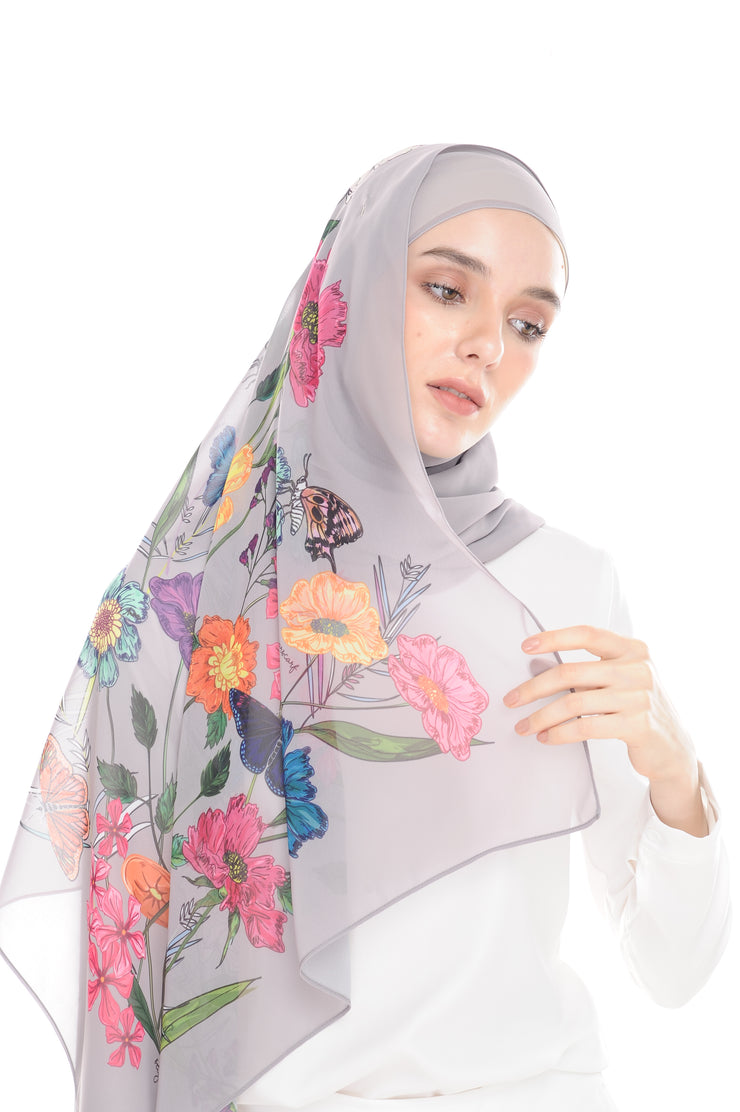 BeeAmazing [Shawl] - Grey - Sugarscarf