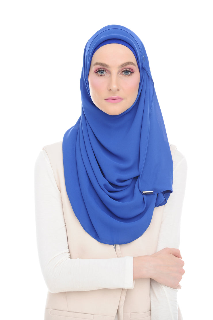 Blue Swarvoski Double Loop Instant Shawl - Without Inner - Sugarscarf