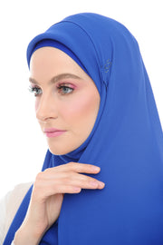 Blue Swarvoski Double Loop Instant Shawl - Without Inner