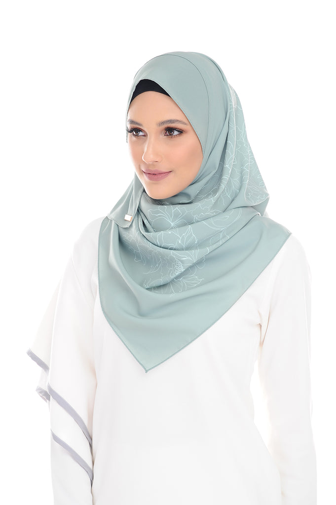 Sage Green Pure Long Scarf