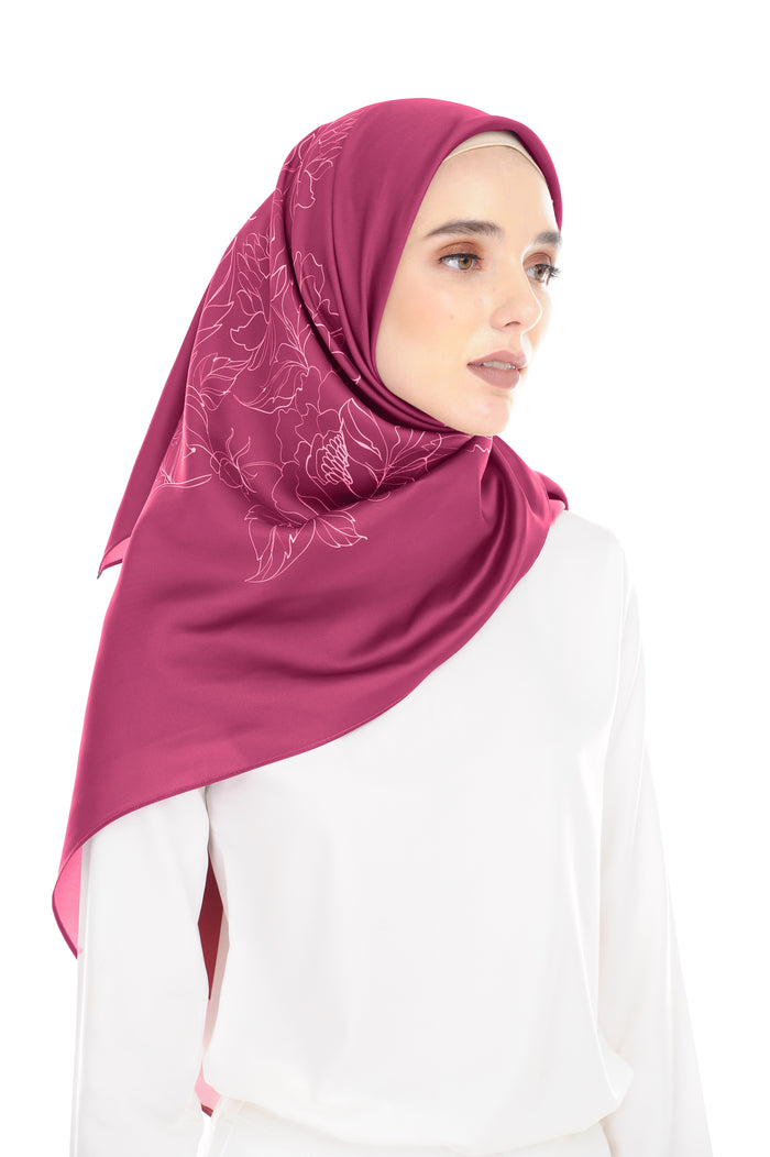 Pure Square Scarf in Ribena