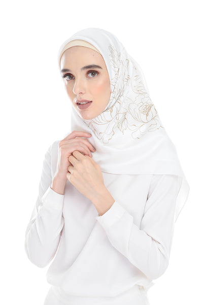 Pure Square Scarf In White