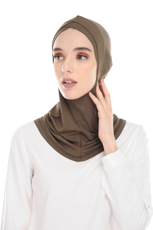 MagicFitInner Inner neck No Tieback Sugarscarf -  Moss ( Free Size ) - Double Cross Style