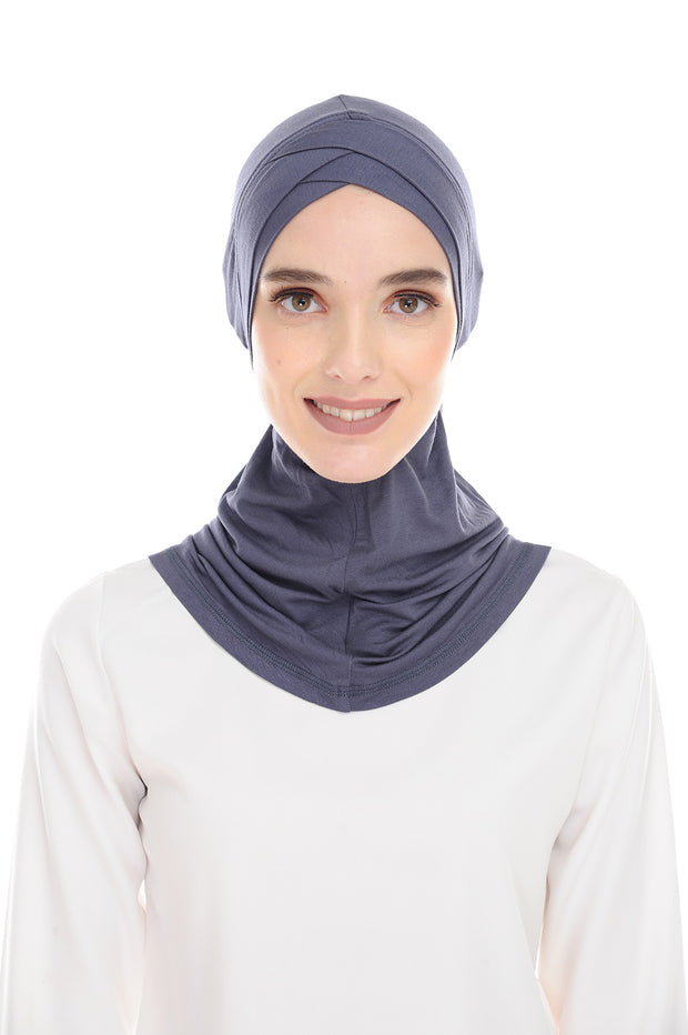 MagicFitInner InnerNeck Tieback Sugarscarf -  Gray ( Free Size ) - Double Cross Style