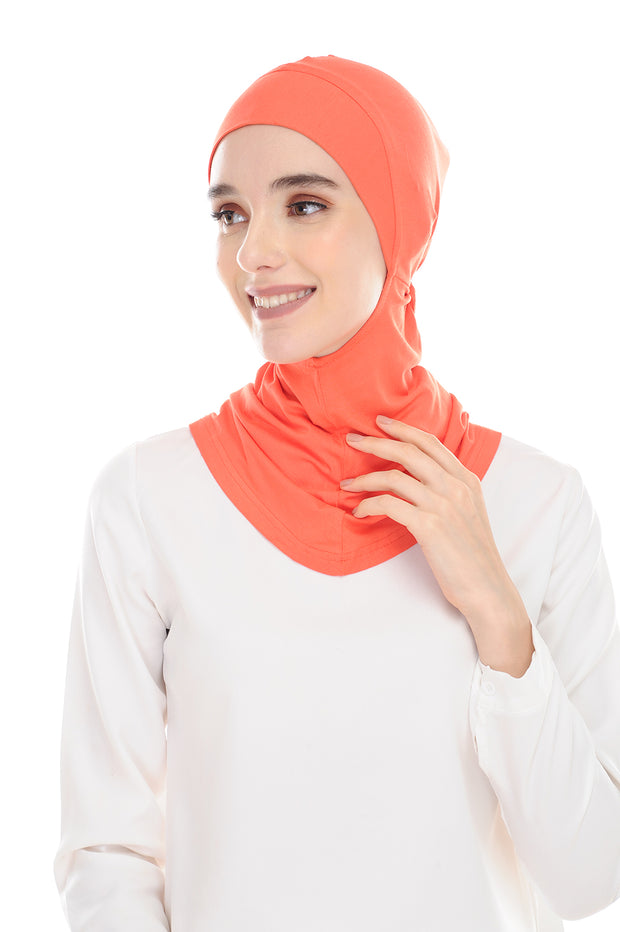 MagicFitInner Inner neck Tieback Sugarscarf - Carrot ( Free Size ) -  Round Style