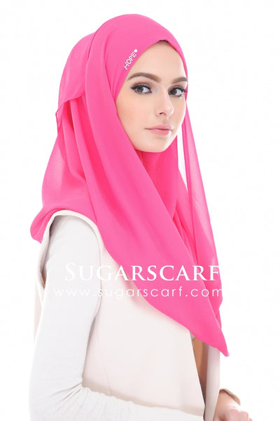HOPE DAISY FUSCHIA PINK - defective on stones - Sugarscarf