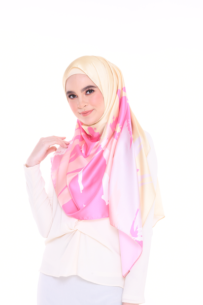 (Shawl) Euphoria CREATIVE MixSatin Silk Scarf (PREORDER - Send within 15 Days)