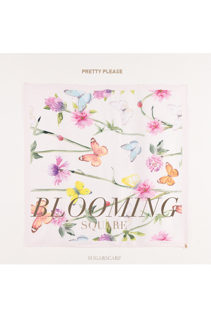( Square )  Blooming 2.0 Mixed Satin Silk ( Pretty Please )