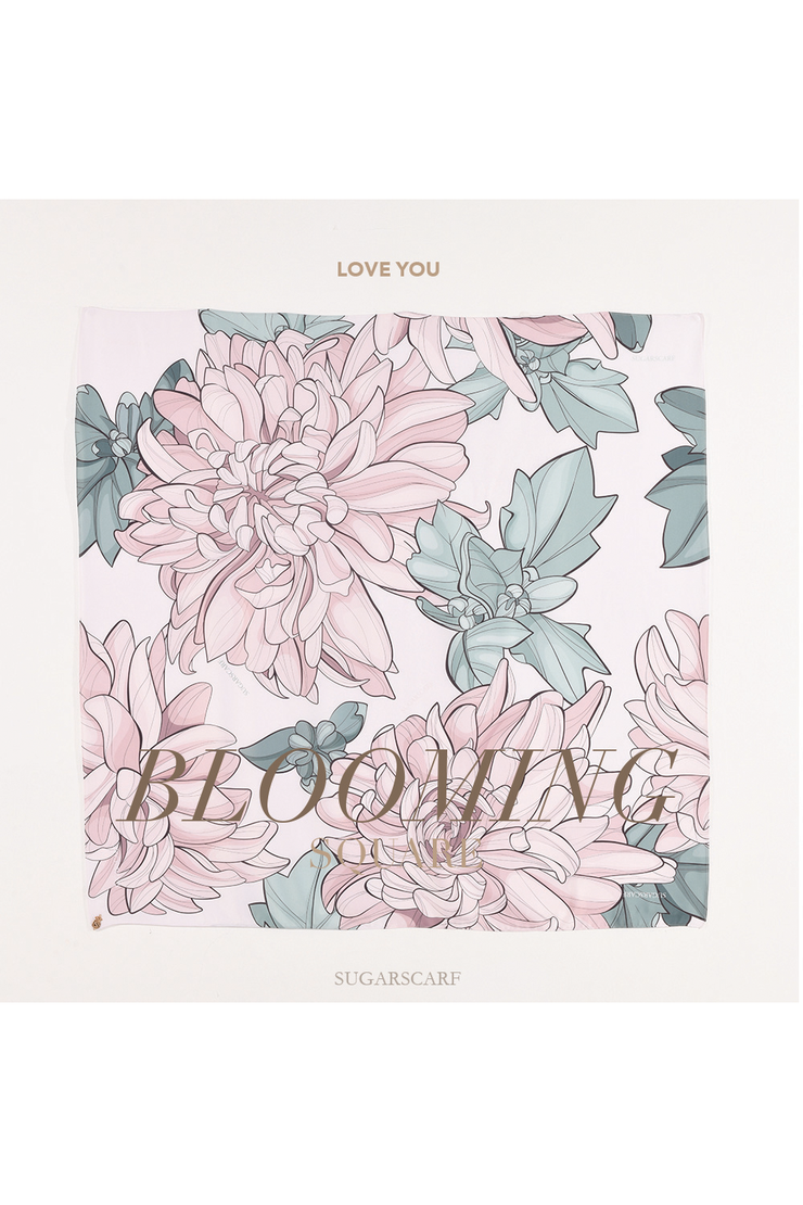 ( Square )  Blooming 2.0 Mixed Satin Silk ( Love You )