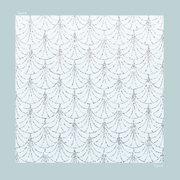 (Square) Mixed Satin Silk Scarf in ( GATSBY BABY BLUE )