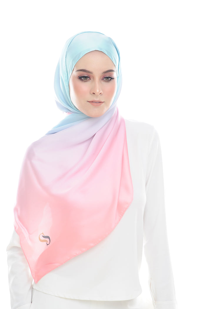 LONG SCARF TWILIGHT mixed satin silk (GULA KAPAS )