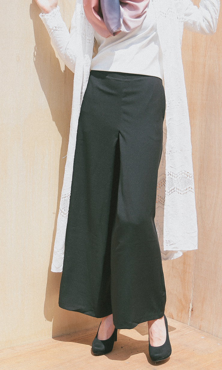 BLACK CHARLOTTE PANTS - Sugarscarf