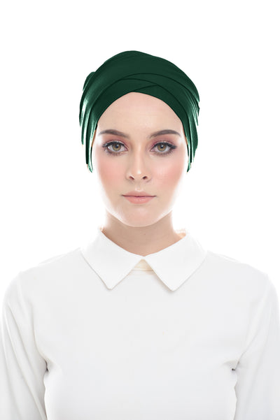 Inner Hana Snow Cap ( No tie back ) - Layered Style (Emerald )