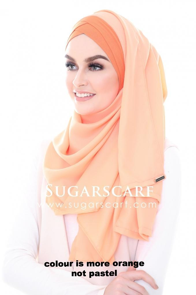 CS Instant Shawl MADISON GLITTER ORANGE SUNSTONE  ( bright orange ) - Sugarscarf