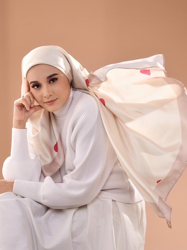 Love Negaraku Scarf Lux Mixed Satin Silk Square