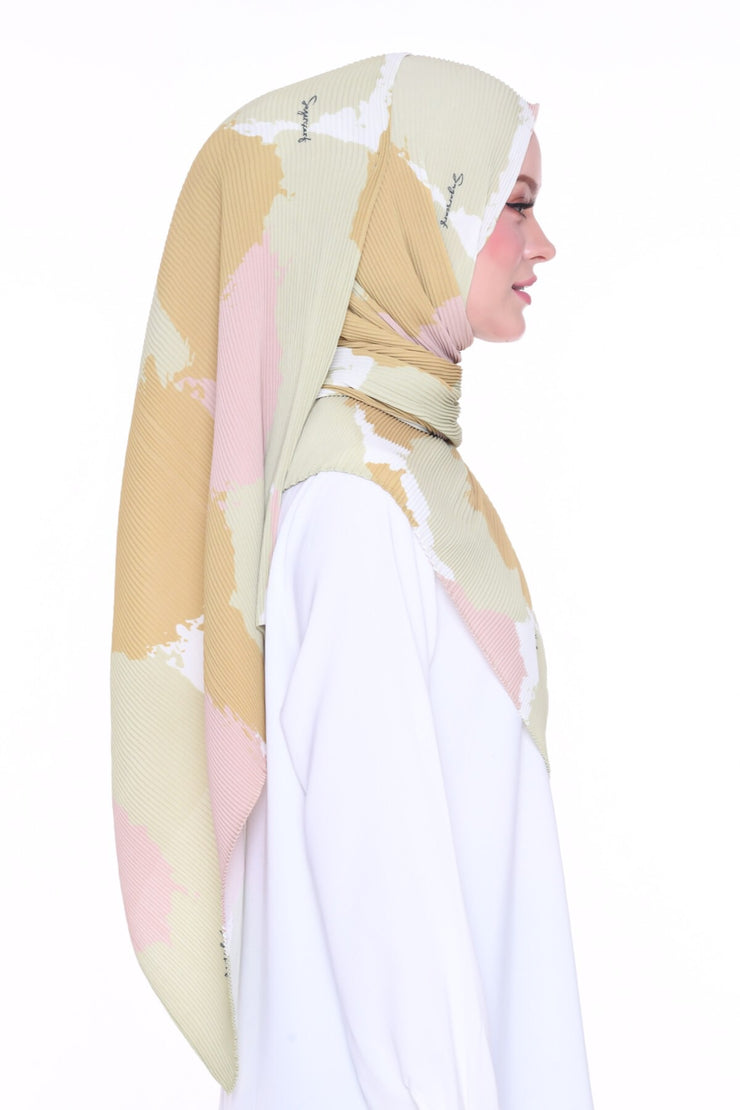 Splash Nature - Full pleats shawls 0.9m ( limited edition august )