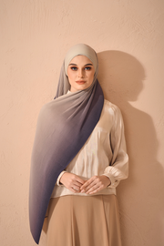 Ombre Small Pleats Shawl - Charmed