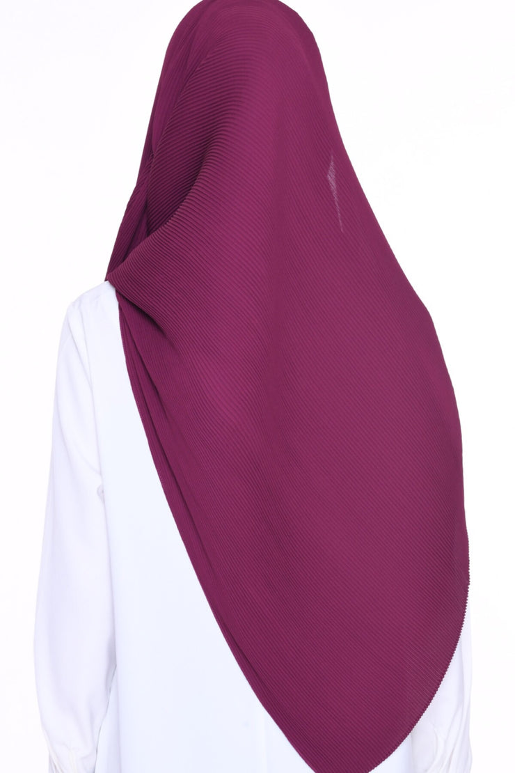 Full Pleats 0.9m wide MXCrepe Shawl - Marrakesh - Dark Ruby