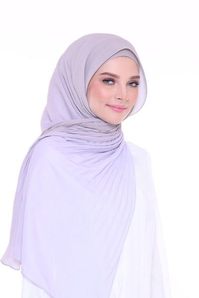 Lapez Ombre Wide Pleated Shawl - Paris