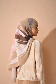 (Full Pleats ) EUPHORIA Shawls My Pink Latte