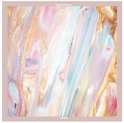 (Square) DOLCE Mix Satin Silk Scarf - Dreamy