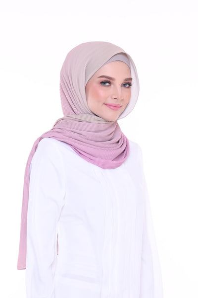 Lapez Ombre Wide Pleated Shawl - Cannes