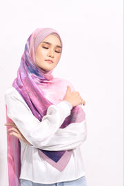 Dolce Pleats Long Shawl in Adventure Time ( Purple Magic)  ( Choose Size)