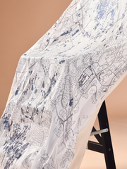 KLMap Iconic Scarf Lux Mixed Satin Silk Shawl In Soya