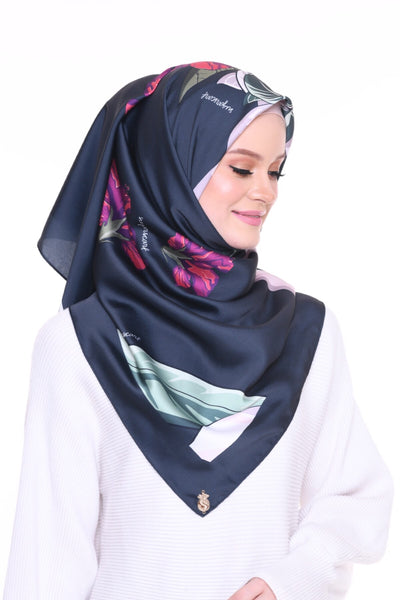 Blooming Mixed Satin Silk (Square ) - Wardah