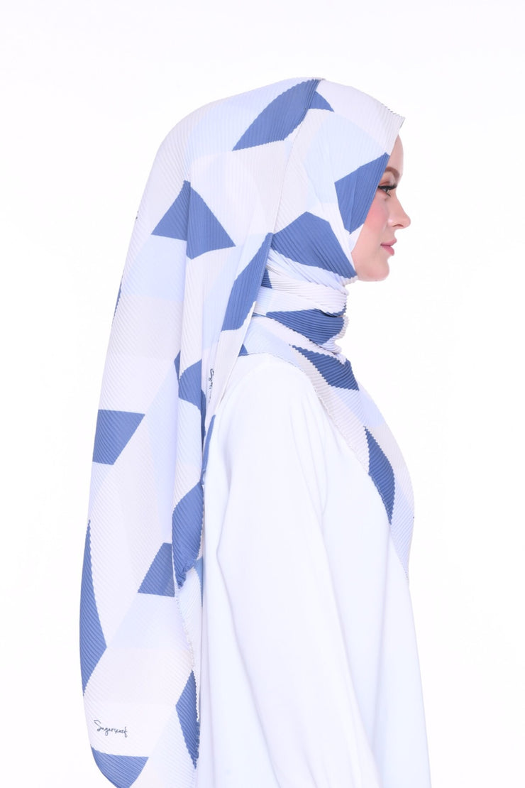 Geometry DarkDenim - Full pleats shawls 0.9m ( limited edition august )