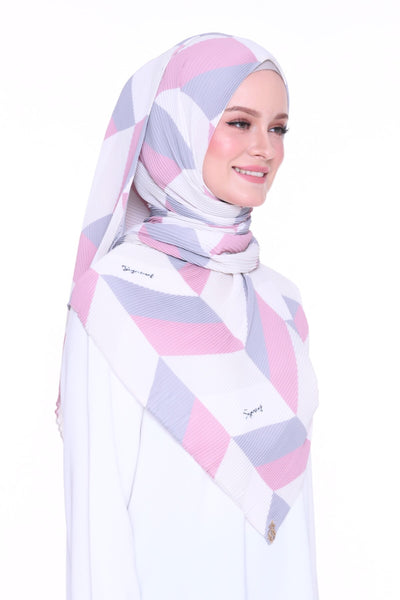 Geometry Eyeshadow -Full pleats shawls 0.9m ( limited edition august )