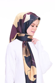 Blooming Mixed Satin Silk (Square ) - Eshal -   ( restocking on 25th )