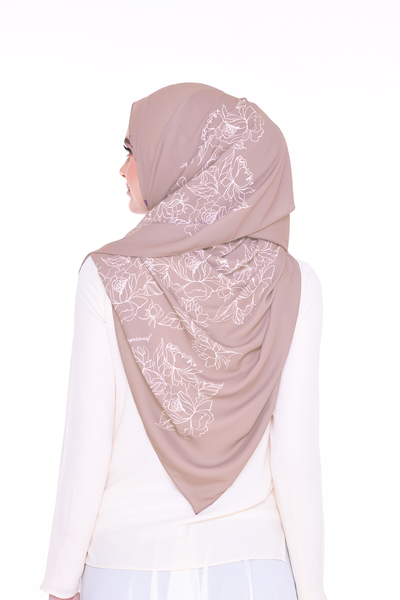 Long Shawl Flowy Chiffon PURE ( Ash Rose )