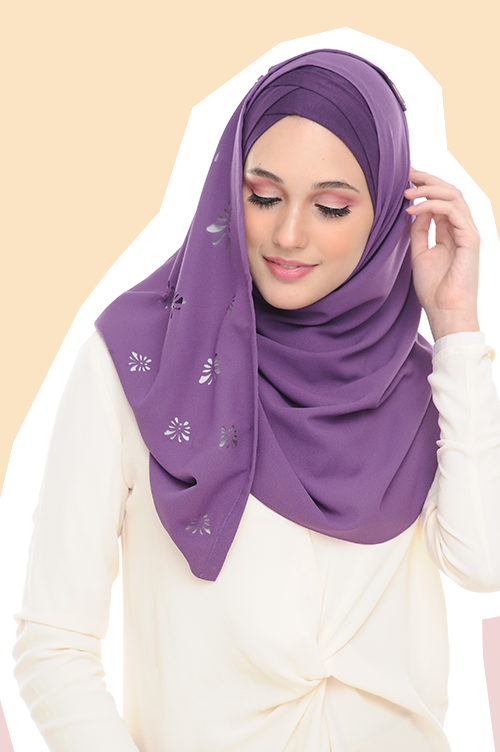 VM Instant Shawl Butterfly CutOut ( Majestic Violet )
