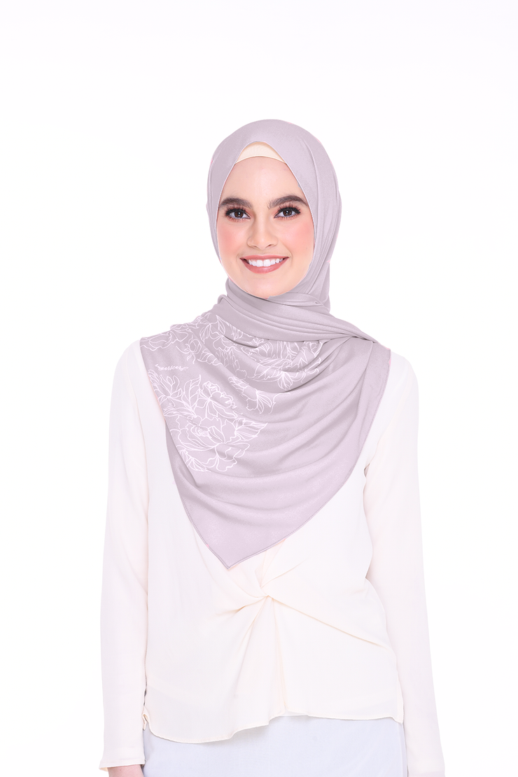 Long Shawl Flowy Chiffon ( DustyPurple )
