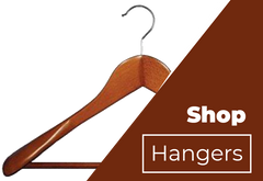 Cherry Wood Suit Hanger with Stationary Bar